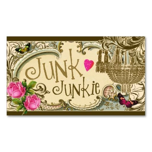 Gc customizable junk junkie business card pinterest gc customizable junk junkie business card business card templates reheart Images