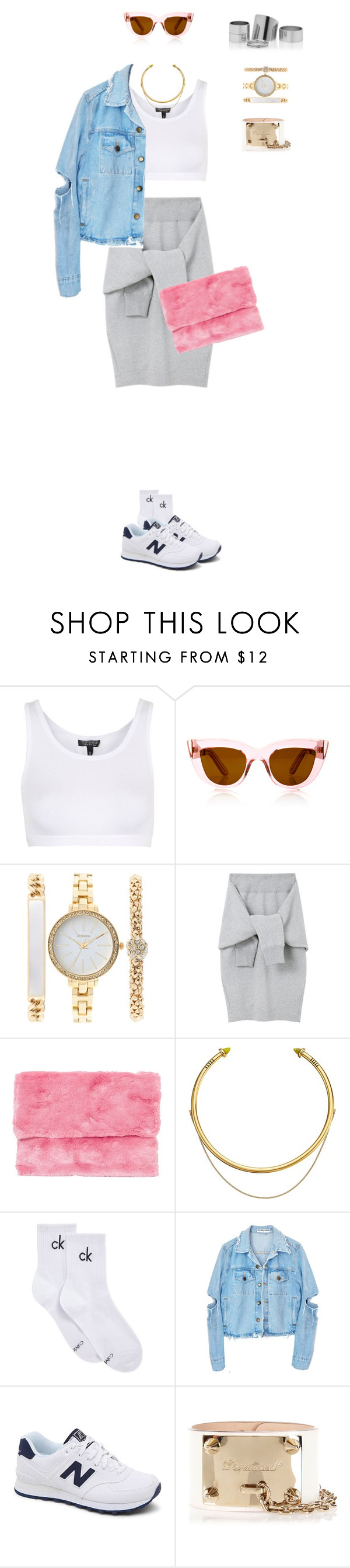 """888"" by julialeskiv on Polyvore featuring мода, Topshop, E L L E R Y, Style & Co., Le Ciel Bleu, OBEY Clothing, Calvin Klein, New Balance и Dsquared2"