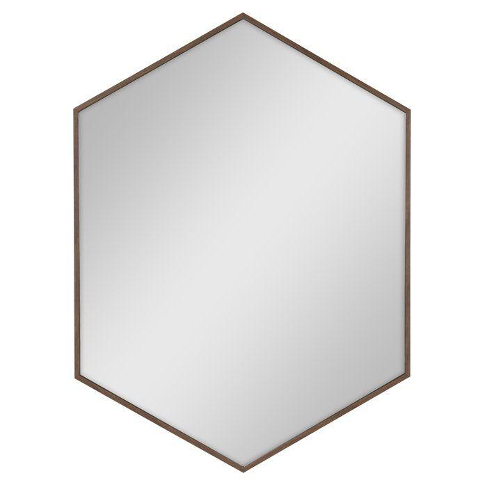 Zaliki Mid Century Hexagon Beveled Accent Mirror
