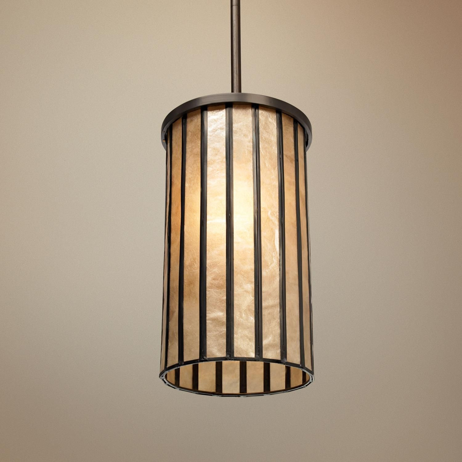 "Capiz Shell 6"" Wide Mini Pendant Light"