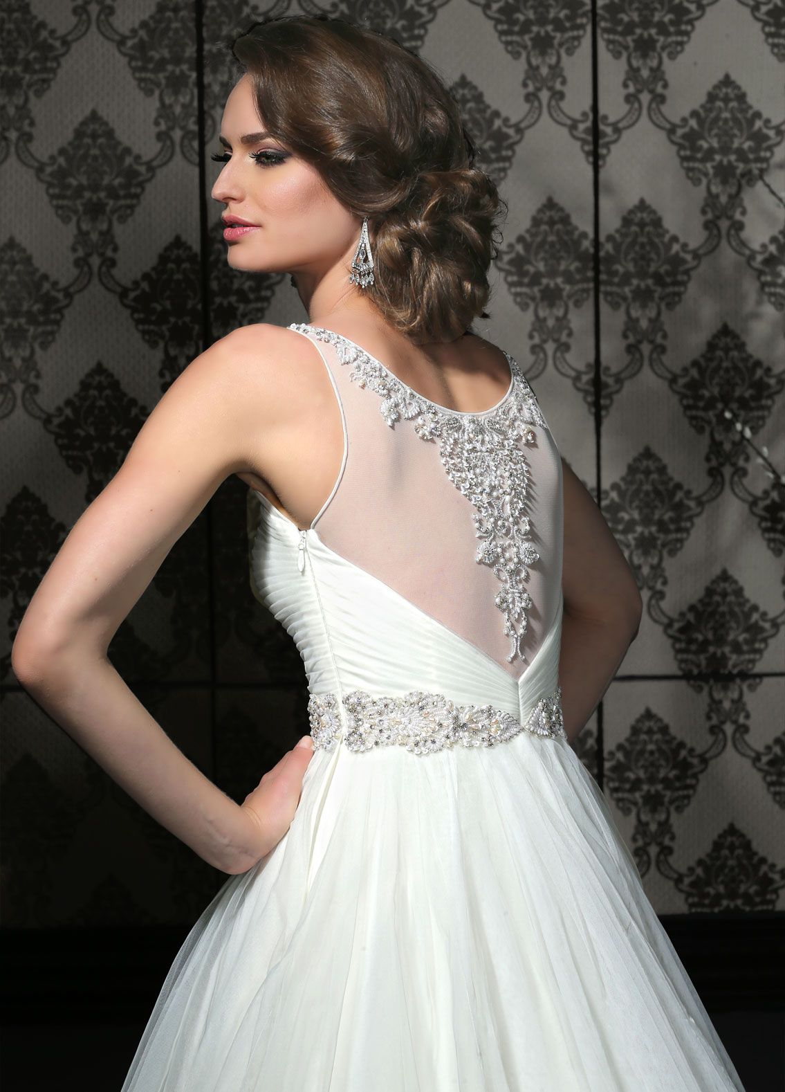 Impression bridal style available in ivory and white tulle