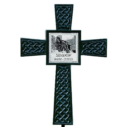 The Black Photo Celtic Pet Memorial Cross Is A Newly Developed Outdoor Tribute And Offers Wonderful Way To Honor Memory Of Lost Companion Animal