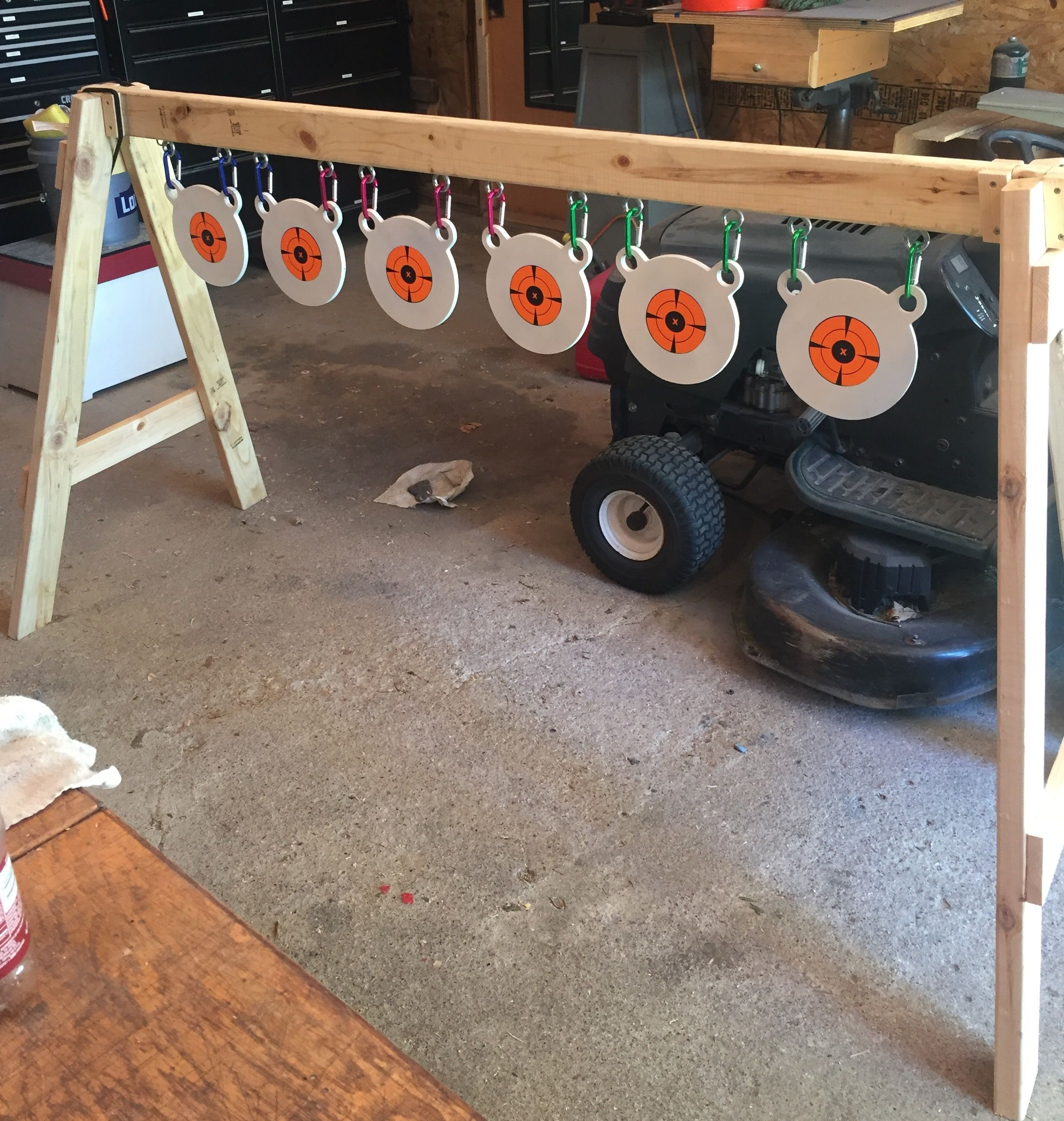how to make a nerf target practice stand