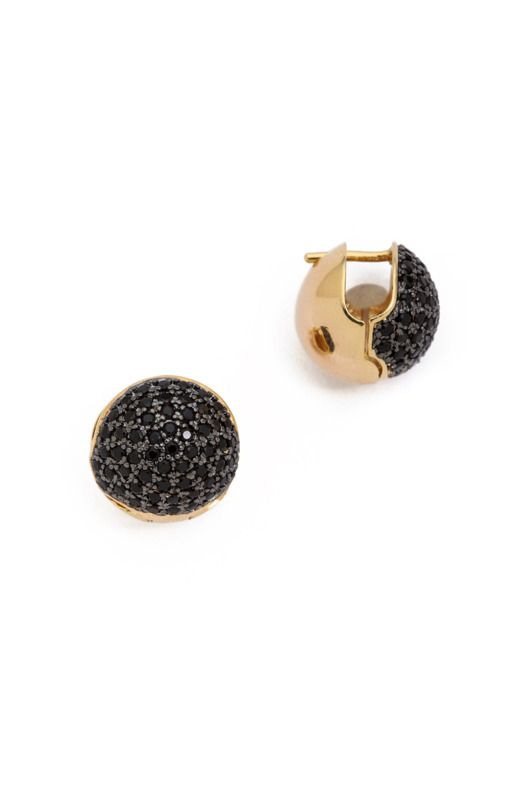 Forgo classic pearls for these Noir Jewelry crystal earrings, with black pavé details. They're fancier than your everyday studs, and will instantly dress up an outfit. Wear them at the office to elevate a blouse and a skirt, or with black jeans and heels for a night out.     Noir Jewelry Crystal Circle Cupped Earrings, $90 at Shopbop.