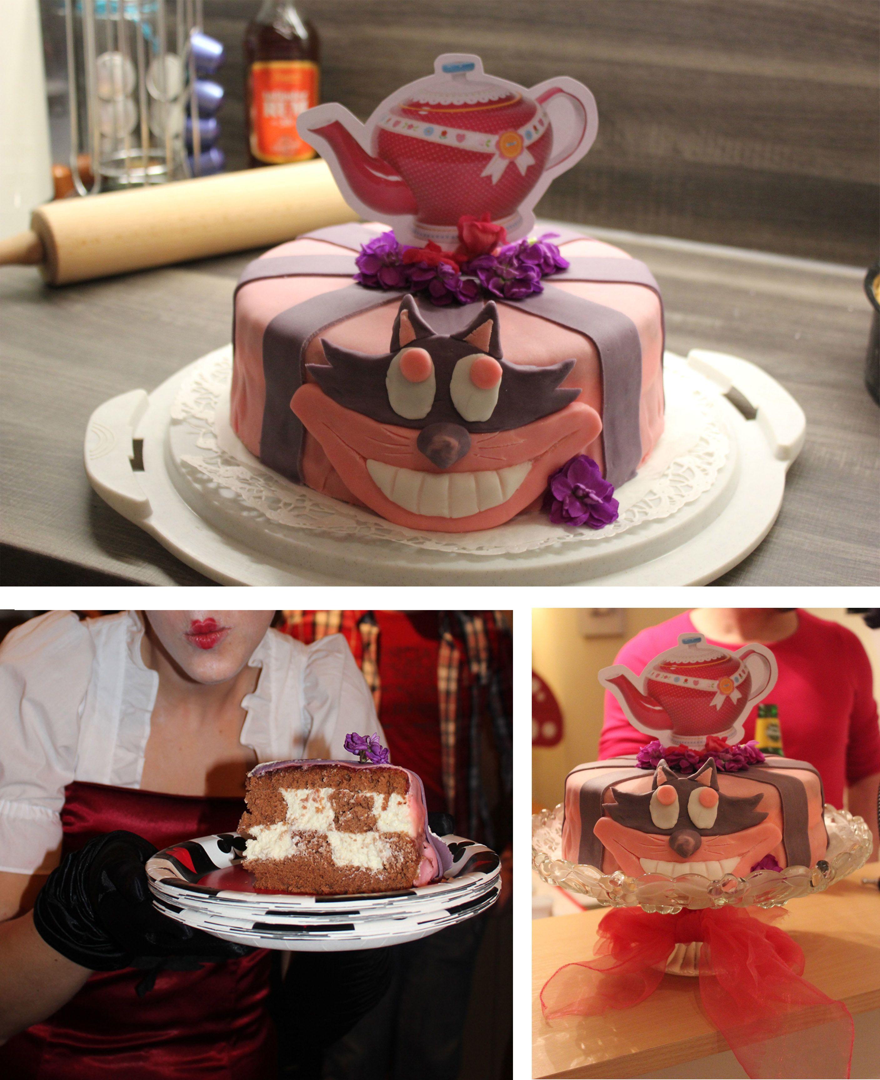 Grinsekatze Torte Birthday Alice Im Wunderland