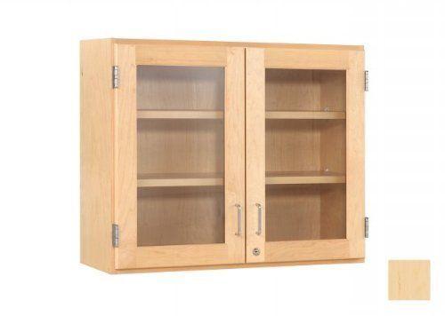 Diversified Woodcrafts D06 4812m 30 X 48 Glass Double Door Cabinet Maple By Diversified Woodcraft 106 Glass Cabinet Doors Wall Cabinet Wall Mounted Cabinet