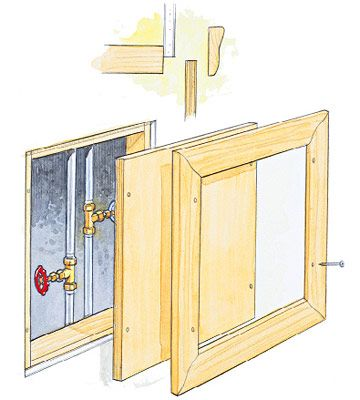 Framed Access Panel Diy Pinterest Basements Drywall