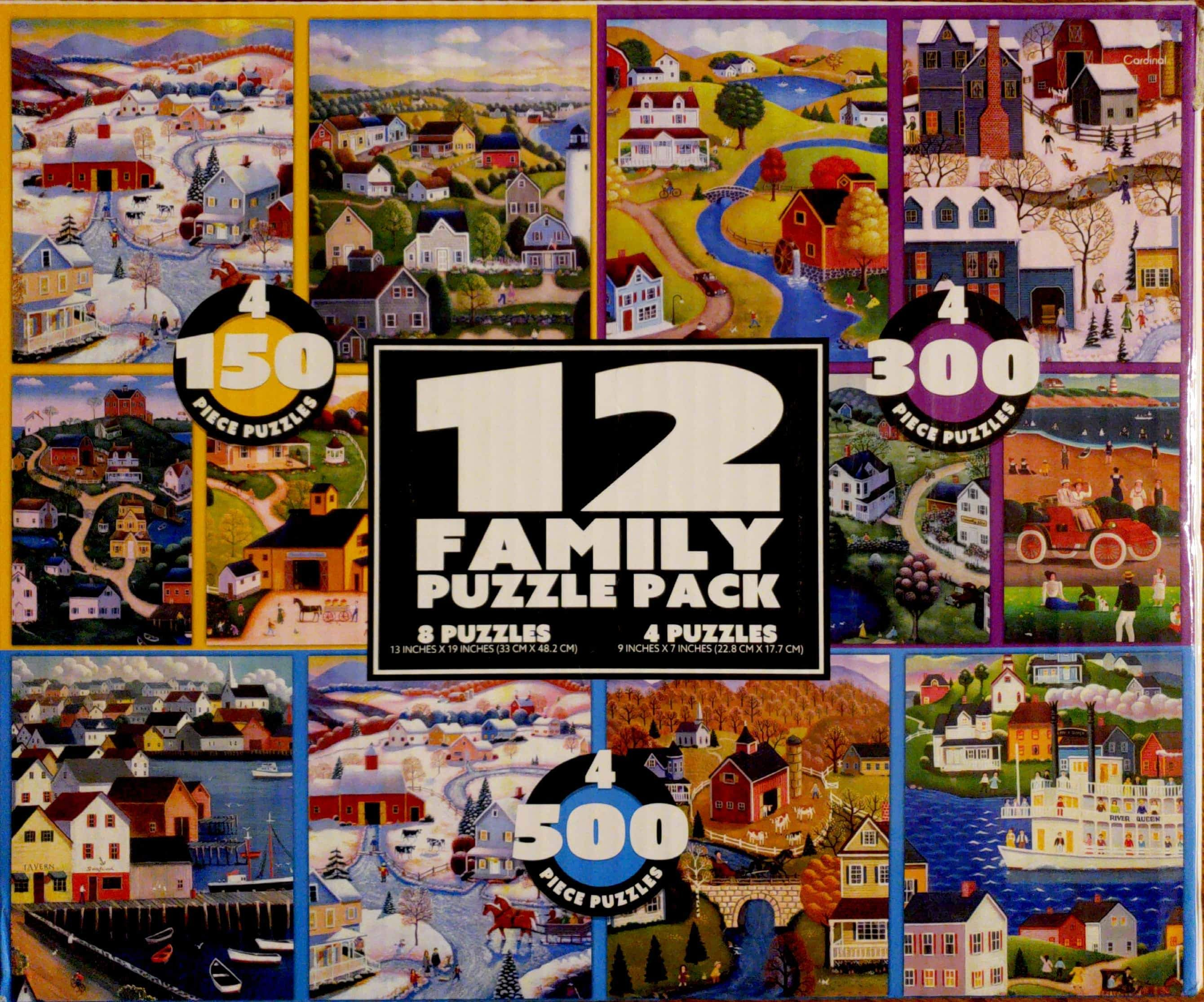 12 Family Puzzle Pack Walmart We Bought This 12 Puzzle Pack From Walmart For A Great Price Approx 10 But They Do No Family Puzzles Puzzle Pictures Puzzle