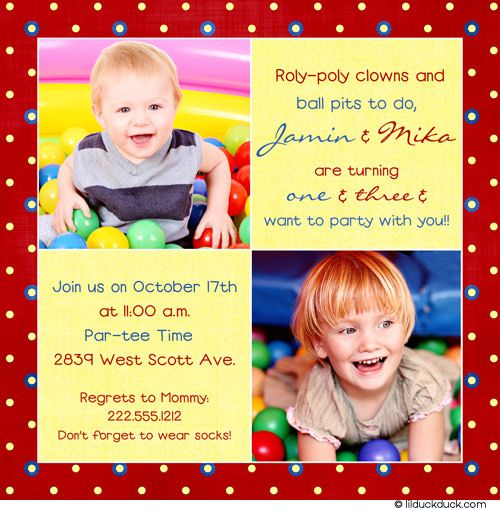 joined birthday party – Dual Birthday Party Invitations