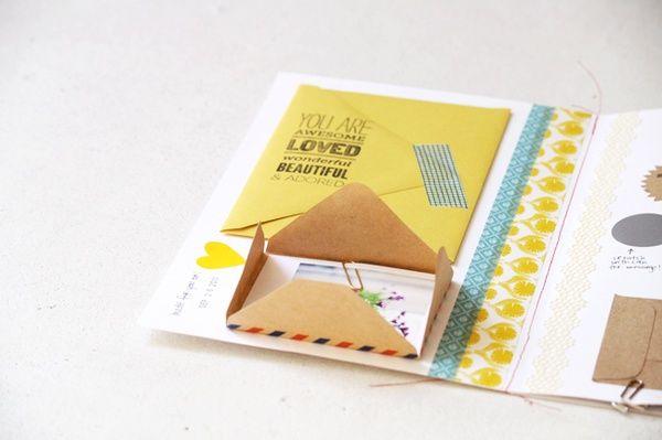 I like the home made envelope idea.