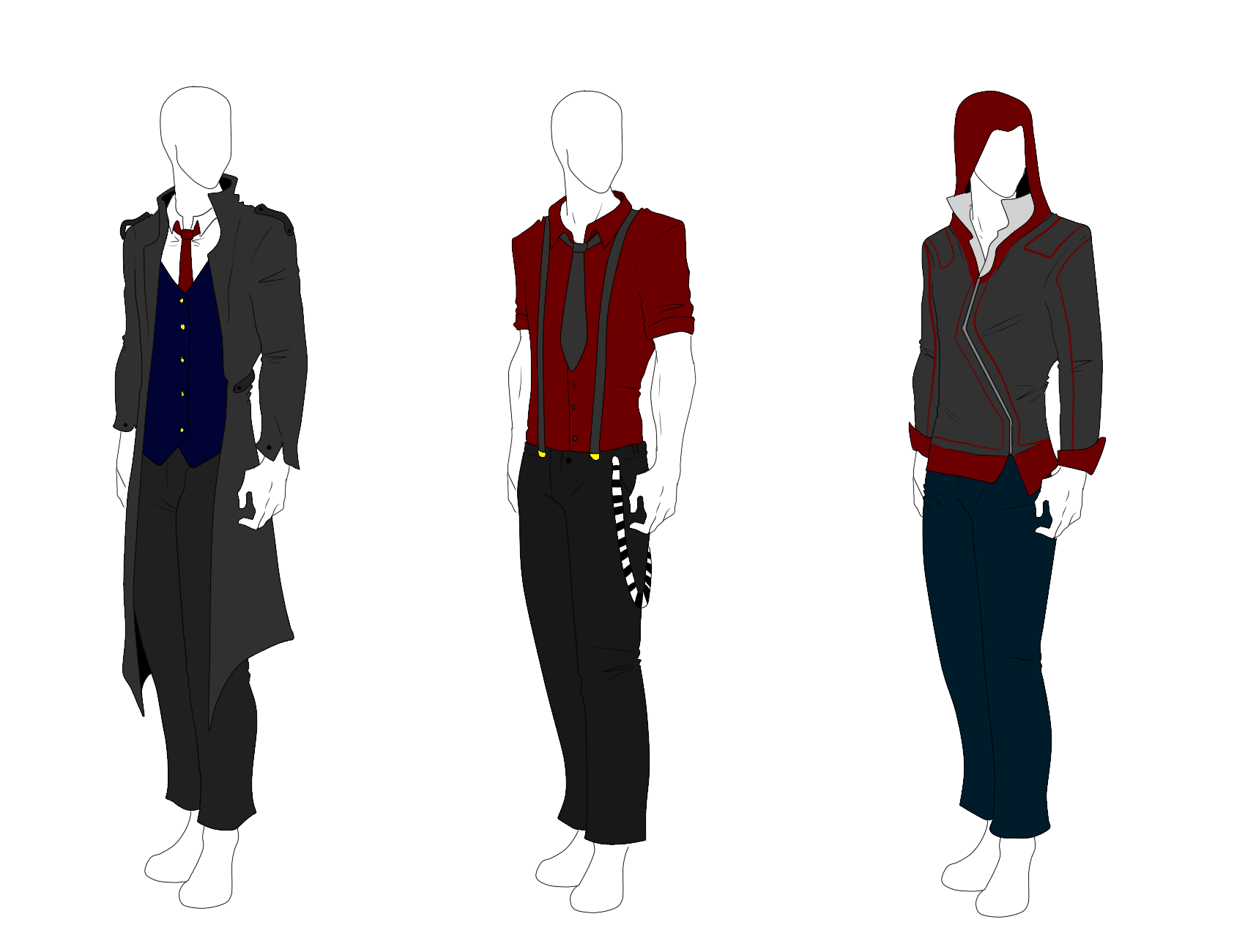 Outfit Adopts Mentlegen Sold By Shadowinkadopts On Deviantart Manga Clothes Anime Outfits Clothes Design