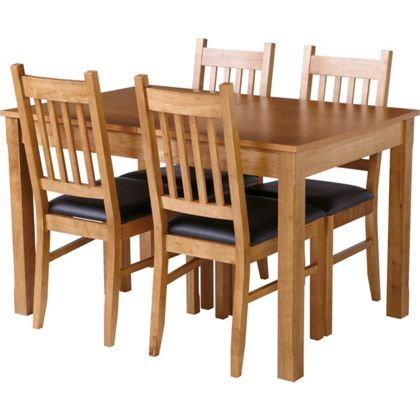 hygena cucina extending dining table and 4 chairs oak. Black Bedroom Furniture Sets. Home Design Ideas