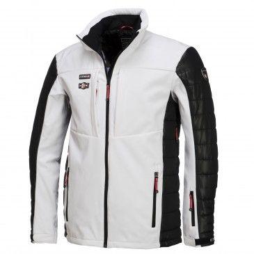 9a673d8ed1 Icepeak, Cale lined softshell ski jacket men, white | Ski jackets ...