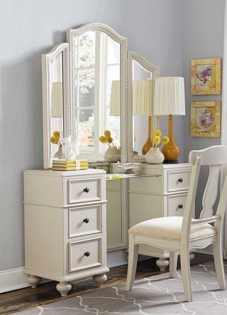 Haley Vanity W Mirror Legacy Classic Kids Bedroom Vanity Set Girls Bedroom Furniture Furniture Bedroom set with vanity