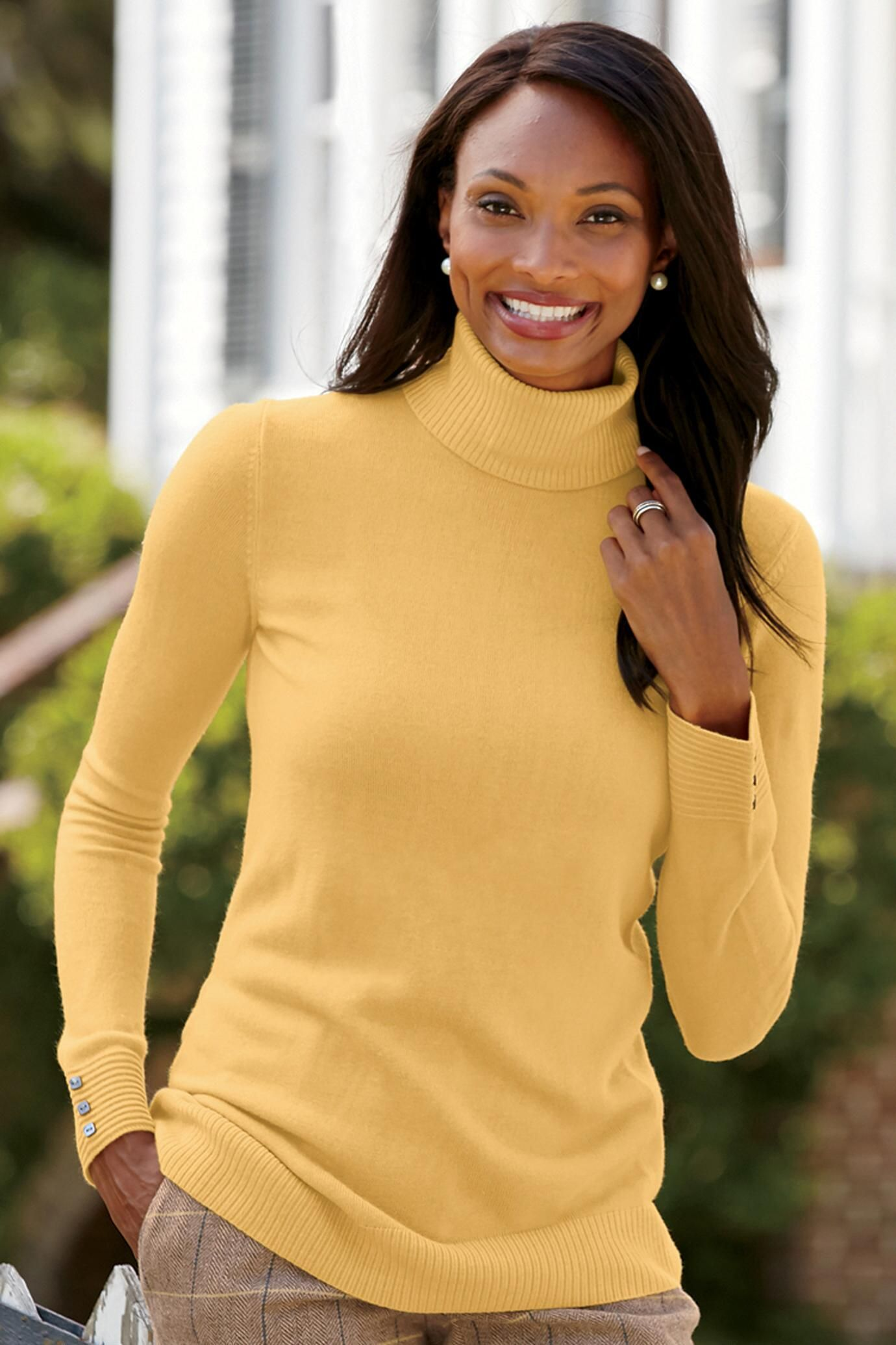 Ribbed Turtleneck Sweater: Classic Women's Clothing from ...
