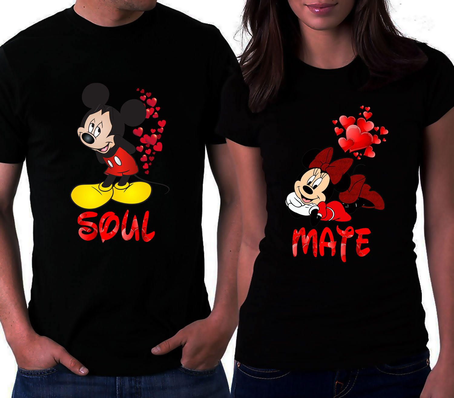 aae588c046 Couple Love T-Shirts Disney T-Shirts Valentine's Day Shirts Soul Mate Shirt  Love T-Shirts Mickey Mouse Shirt Minnie Mouse Shirt Couple Tees by ...