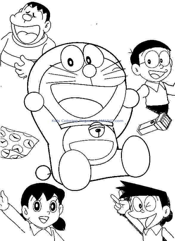 Doraemon And Friends Colouring Pages Mom Drawing Coloring Pages Colouring Pages