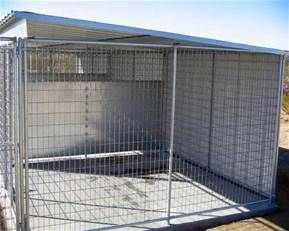 Pin By Tina Quintal On Dog Kennels Pet Kennels 10x10 Dog Kennel Dog Kennel