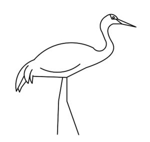 Sandhill cranes drawing google search crane cake for How to draw a crane step by step
