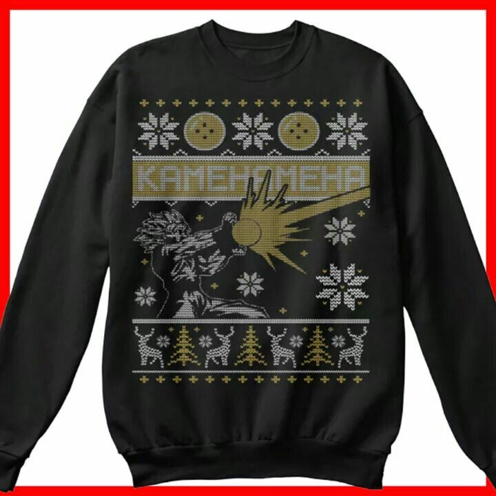 The FLASH UGLY CHRISTMAS SWEATER PRINT 2-Sided Long Sleeve Poly T-Shirt