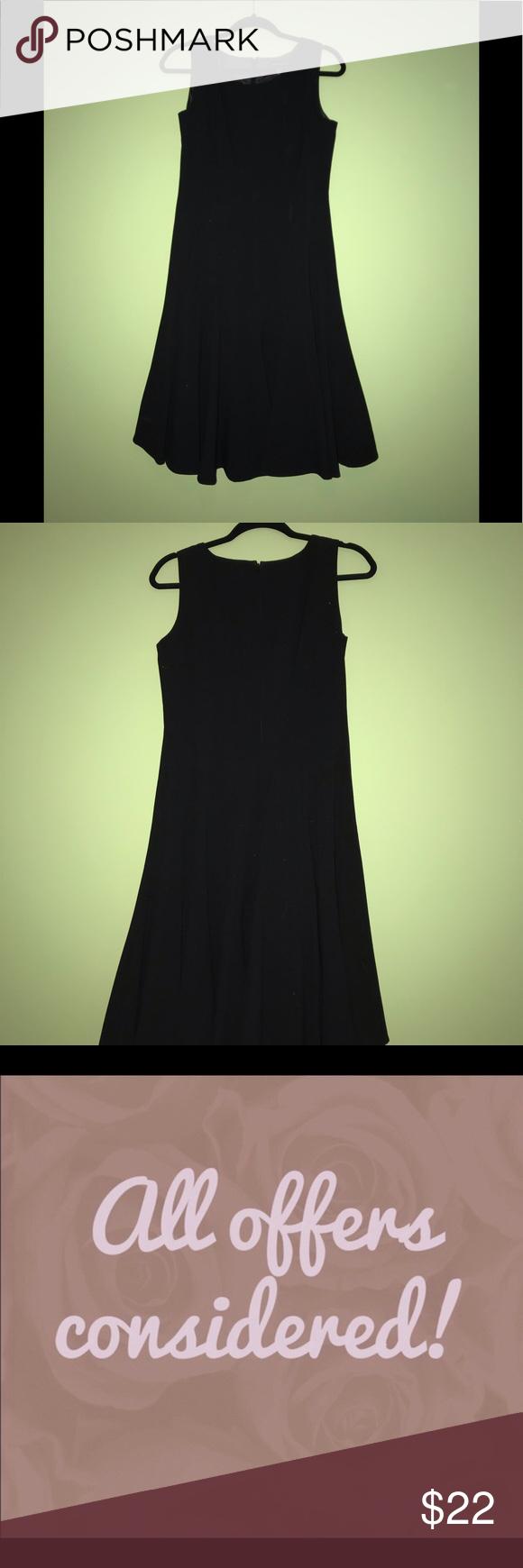 ❤️3 for $28❤️ Dana Buchman Black Dress 0918 Excellent condition, size 4, beautiful design. I consider all offers. Dana Buchman Dresses Asymmetrical