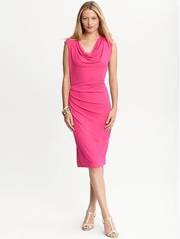 Sew It Yourself Use Vogue 1250 Cowlneck Matte Jersey Dress Banana Republic Http