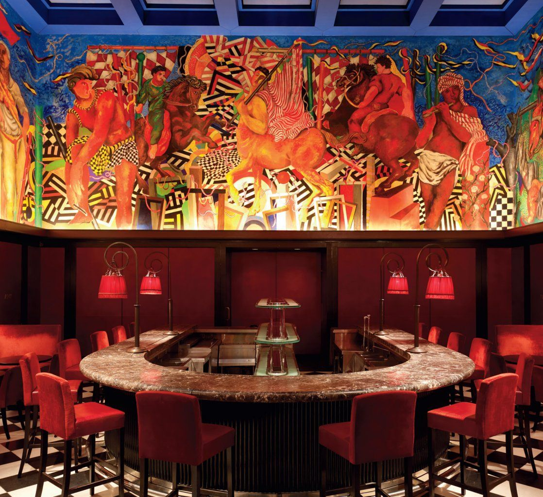 Sandro chia mural in a bar of the italian reastaurant palio in sandro chia mural in a bar of the italian reastaurant palio in new york city pinterest sandro jeuxipadfo Image collections