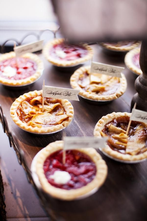 Four Winter Dessert Ideas From The Infinity Events Catering Menu That Are Perfect For Any Pie Bar WeddingWedding