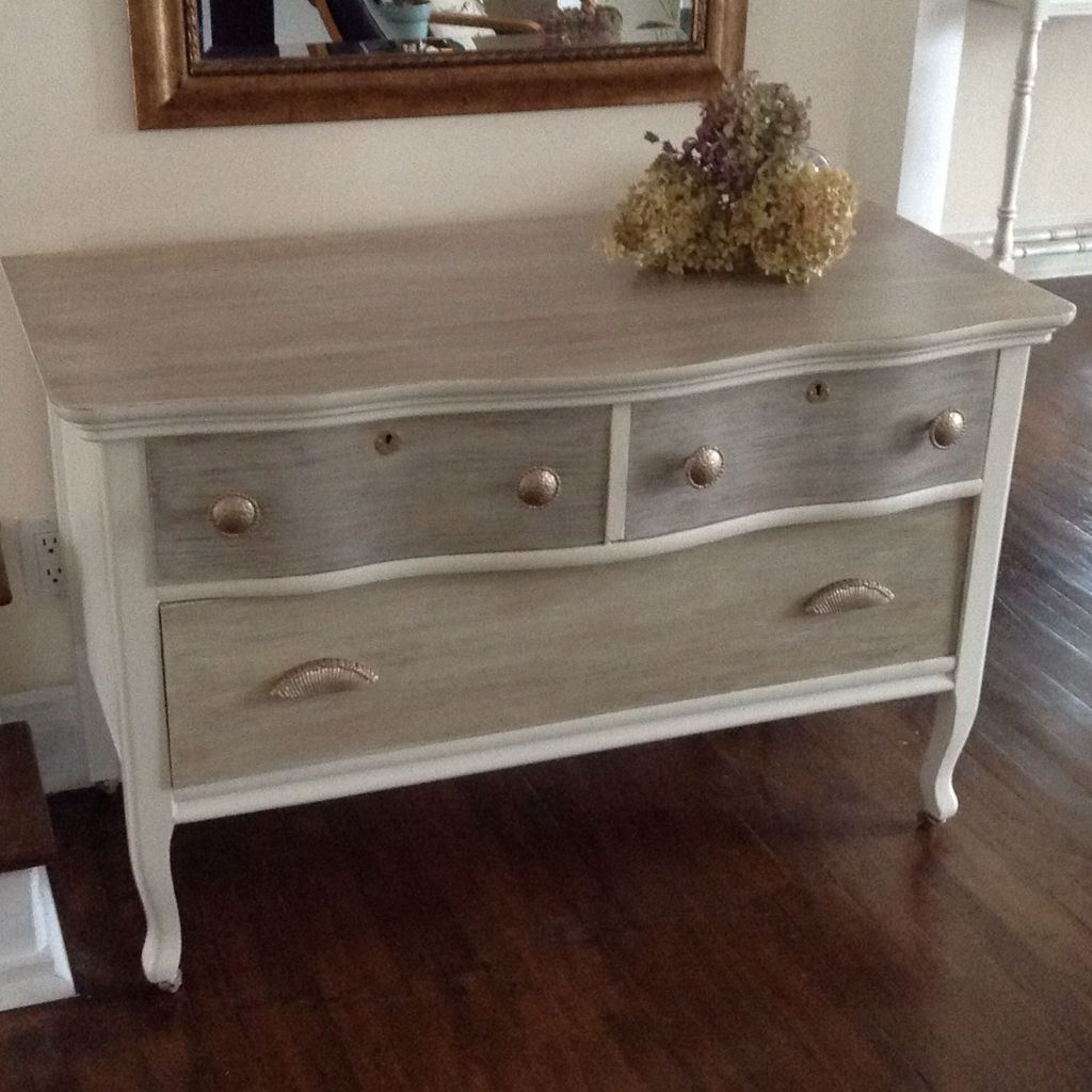 Best Real Vintage Solid Wood Dresser Buffet Entry Table With 400 x 300