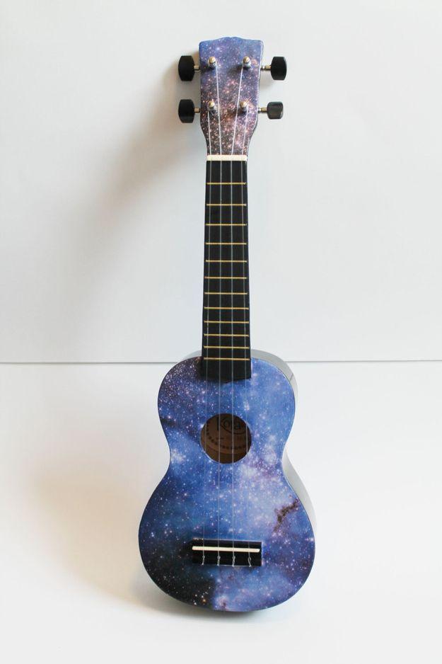 galaxy ukulele ukulele ukulele art ukulele design painted ukulele. Black Bedroom Furniture Sets. Home Design Ideas