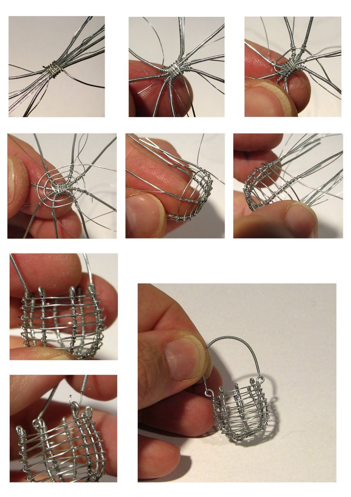 Great tips for working with soft, pliable metal - eg. wire basket ...