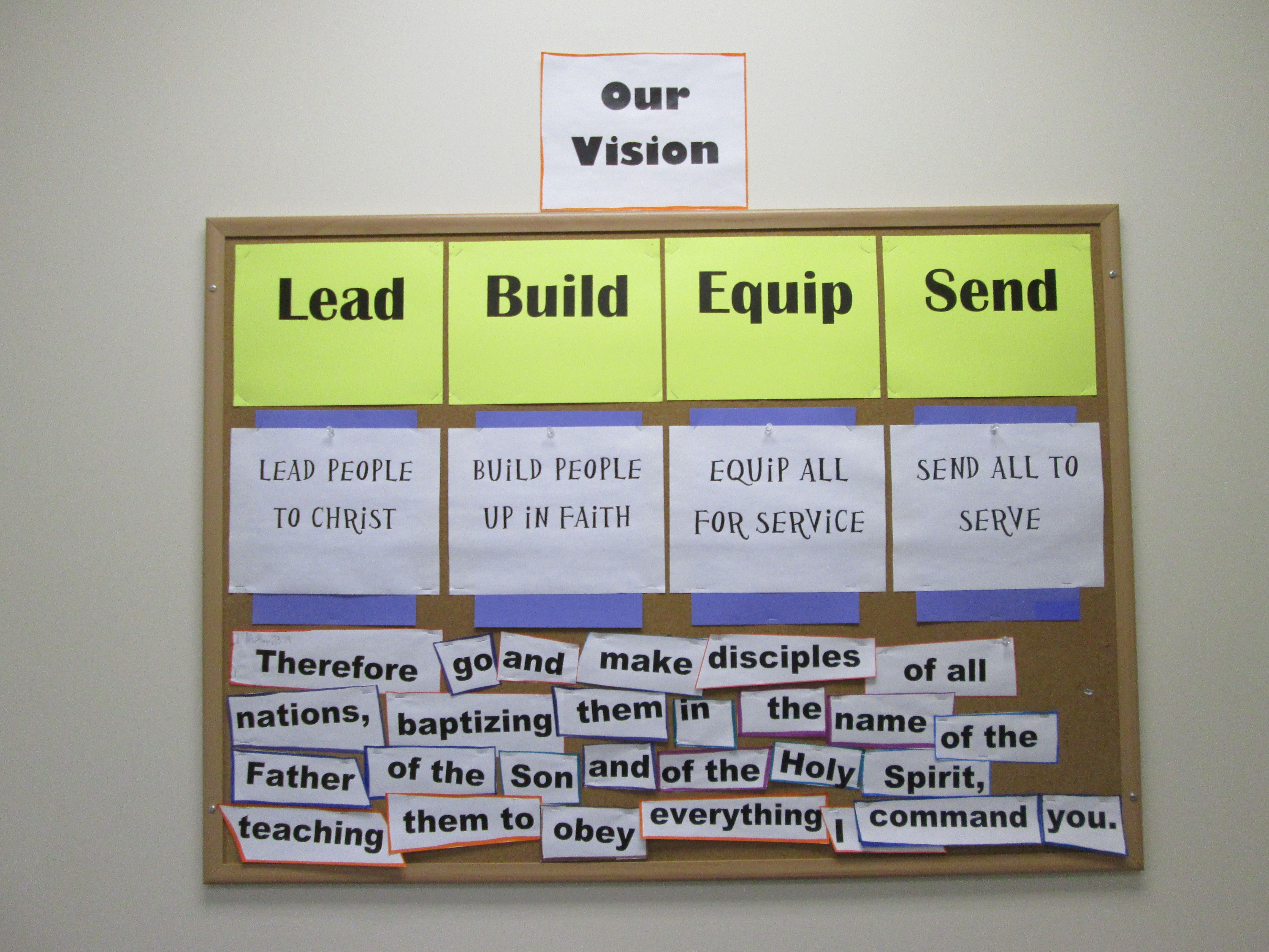 Casting a Vision {Bulletin Board Display} | Inspirational Board ...