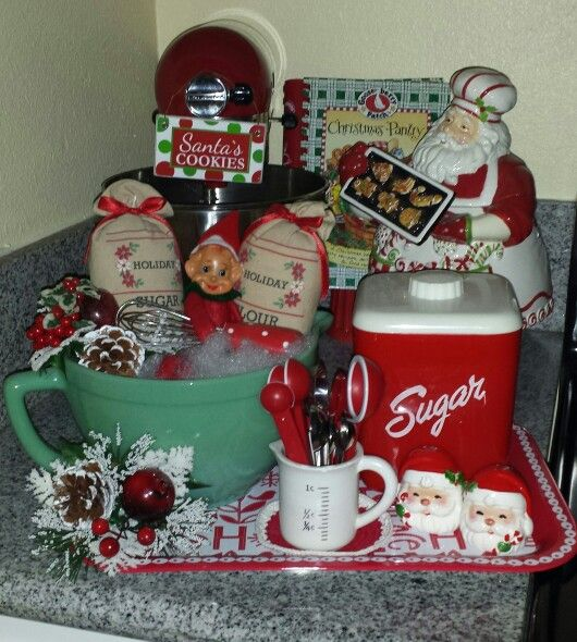 Kitchen Gift Baskets: Cozy Christmas .... I Make Up Gift Baskets Like This As