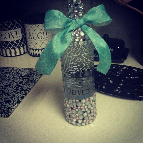 Decorated Alcohol Bottles For Birthday: Bedazzled Bottle, Bling