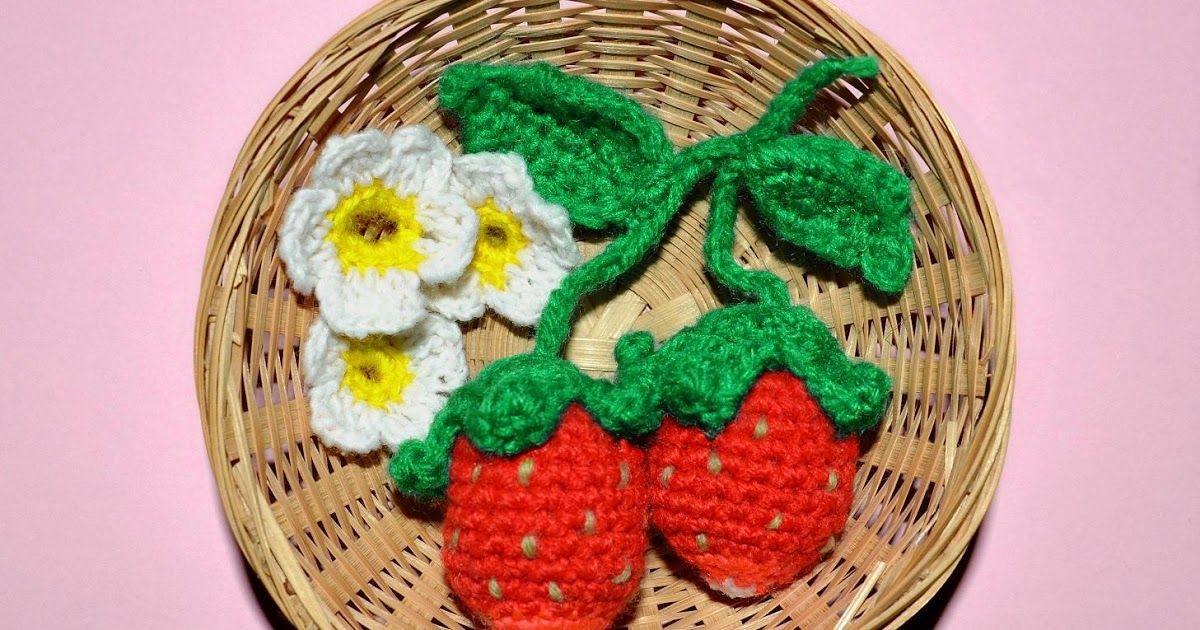 Erdbeeren häkeln, Häkelanleitung Erdbeere, Erdbeere Häkelmuster ...