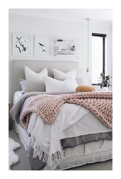 chambre hygge deco hygge chambre cocooning pastel douceur cosy