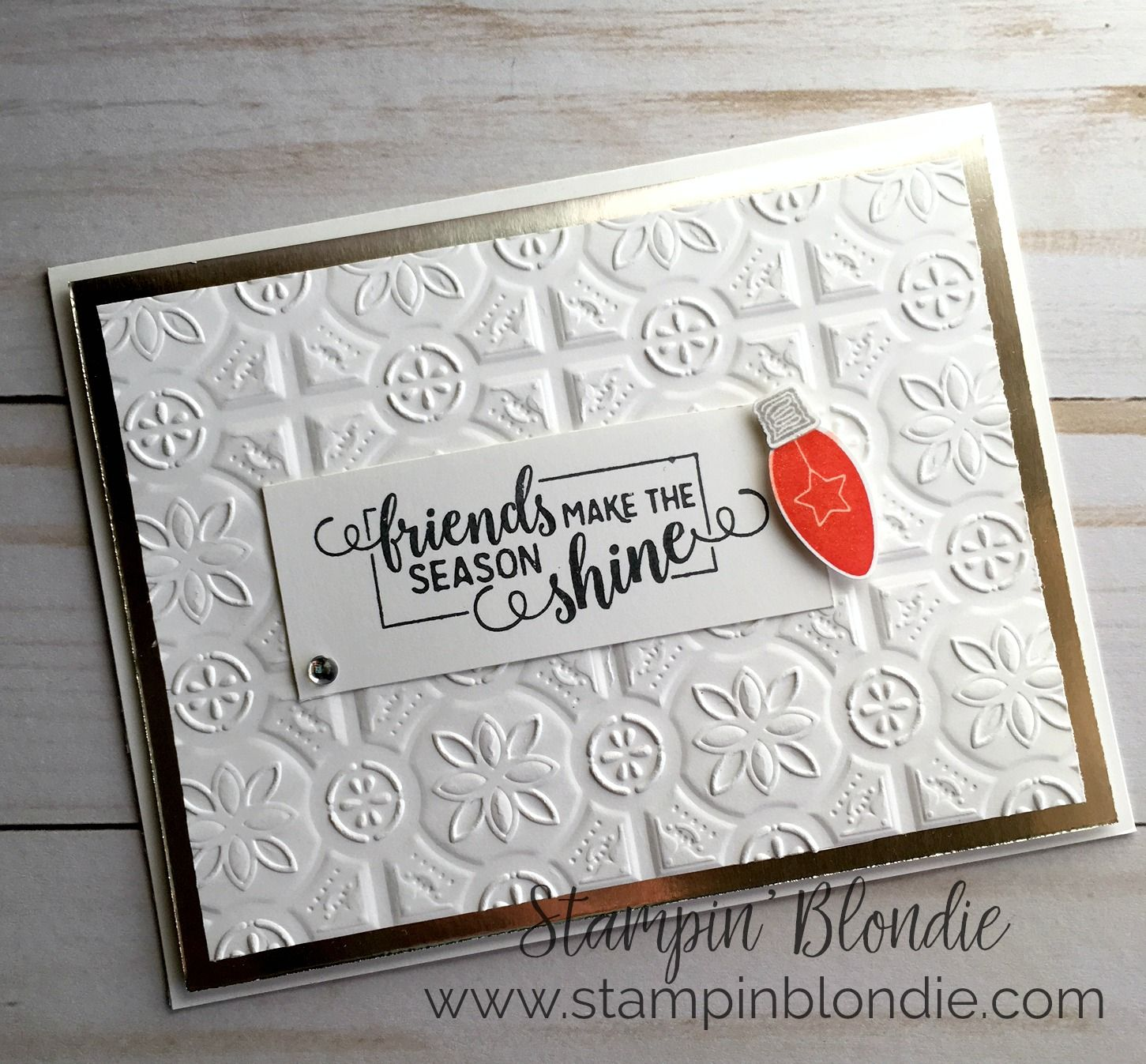 Image result for stampin up tin tile dynamic embossing