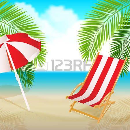 Palm Tree Beach Chair