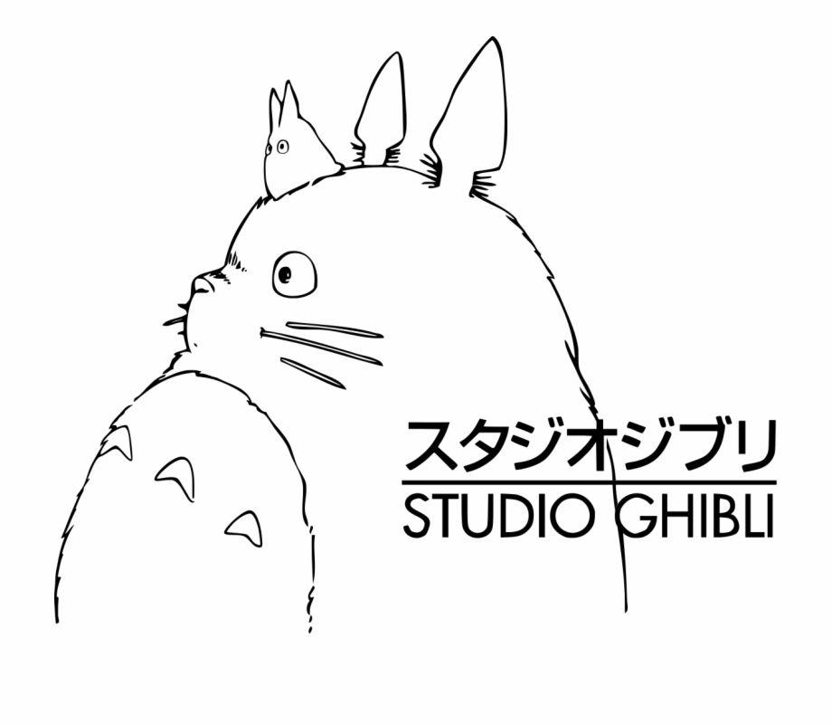 Totoro Studio Ghibli Logo Transparent Png Download 2301047 Vippng Studio Ghibli Poster Studio Ghibli Tattoo Totoro Drawing