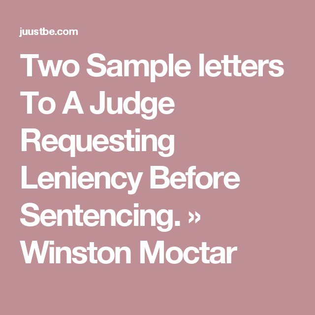 Sample Letter To A Judge Before Sentencing from i.pinimg.com