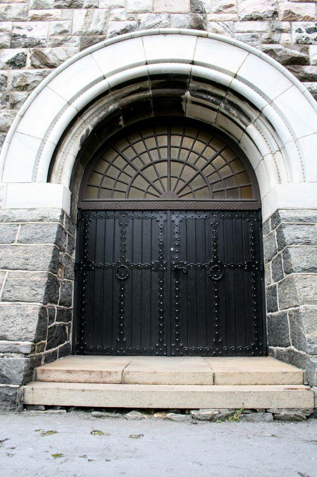 Door to Ålesund church, built 1854, Norway