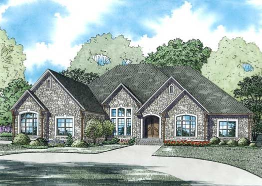 European Style House Plans 3766 Square Foot Home 1 Story 4 Bedroom And 4 Bath 3 Gara French Country House Plans House Plans And More French Country House