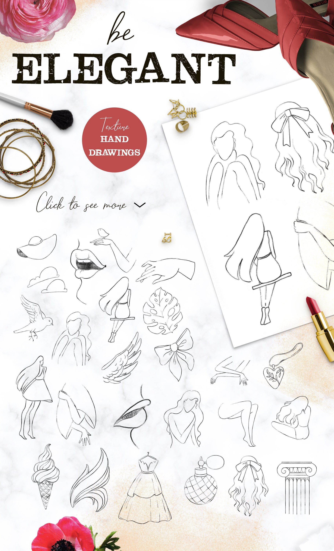 Lady Collage Contemporary Design Set Ad Affiliate
