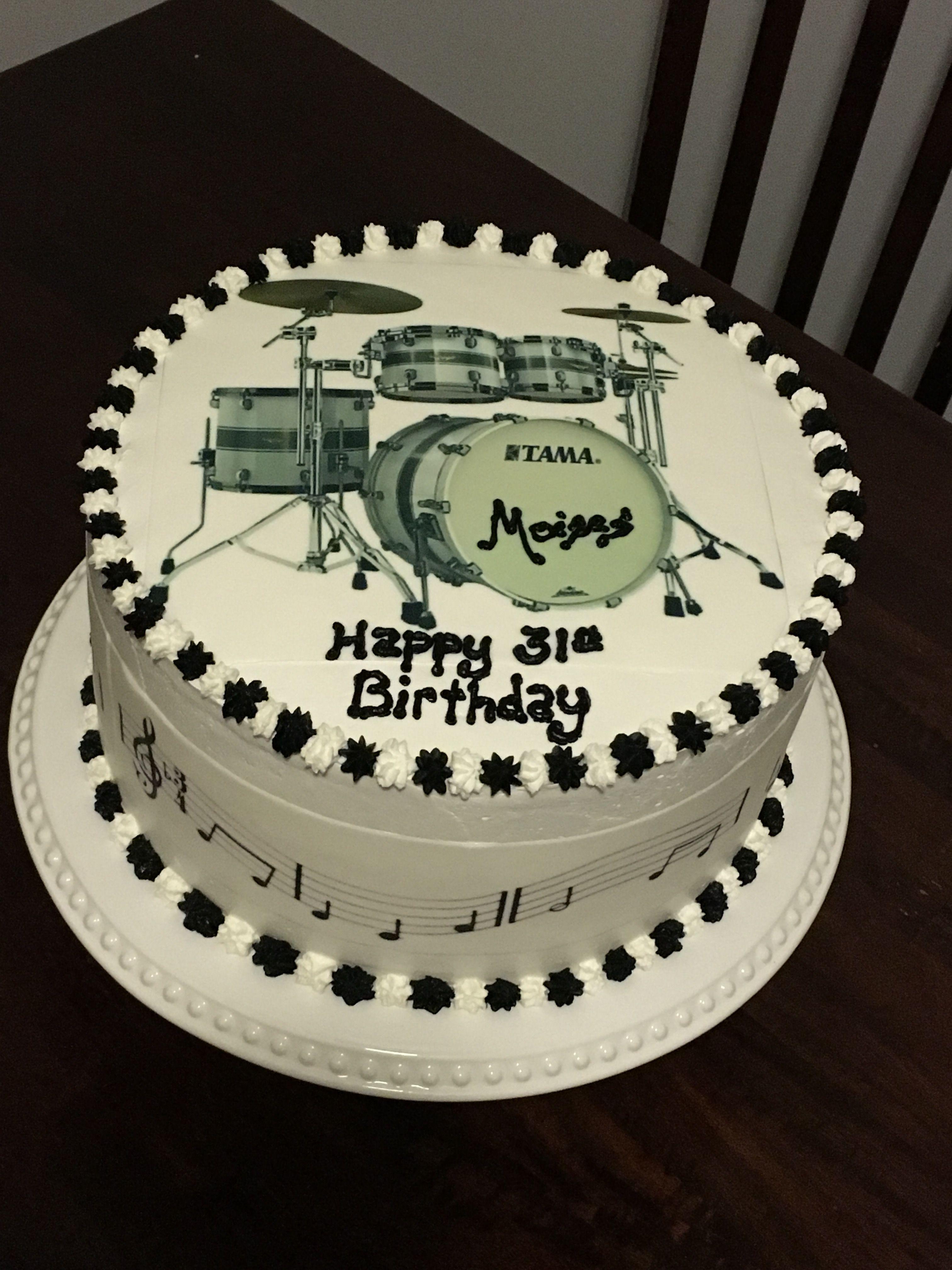 Drum Set Cake Birthday Cakes Celebration Beautiful