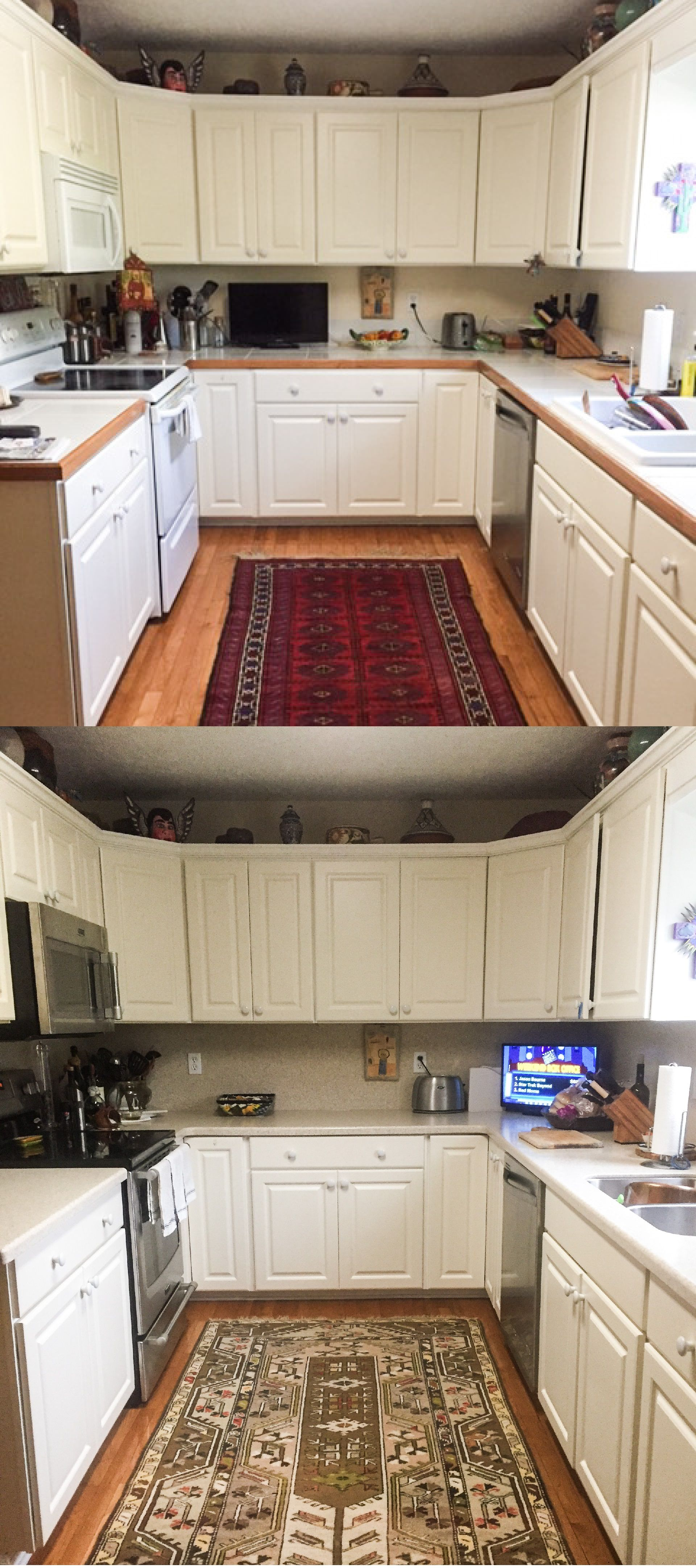 This Augusta Kitchen Had Its Countertops Replaced With Corian Solid Surface In Sahara And Incorporated A Full Hei Kitchen Renovation House Styles Countertops