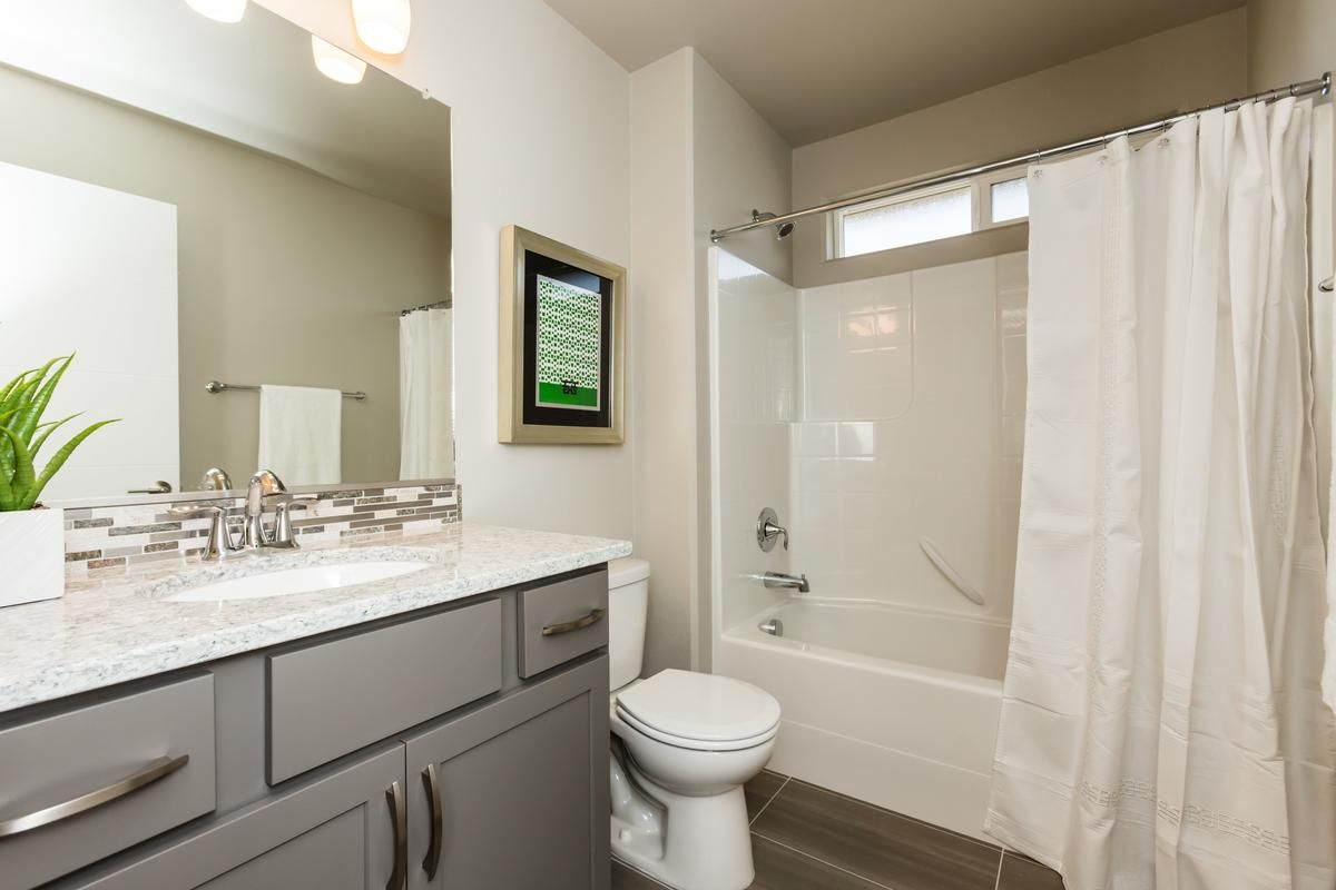 Kingston main bath with standard fiberglass tub/shower insert and ...