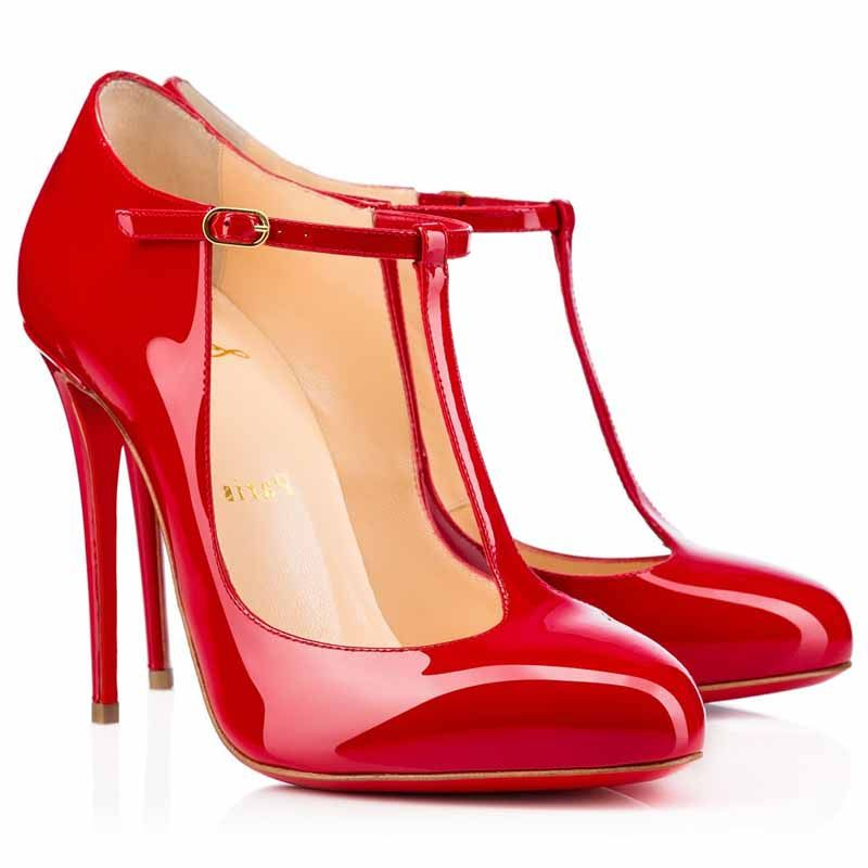 eaddd552aa5 Christian Louboutin Tpoppins 100mm Patent Leather Pumps Red | shoes ...