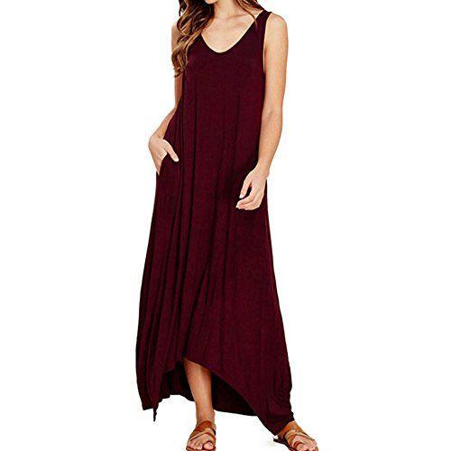 Weant Abiti donna abito taglie forti vestito donna gonna lunga elegante  abito blu nero rosso cotone ffd22d0d52e