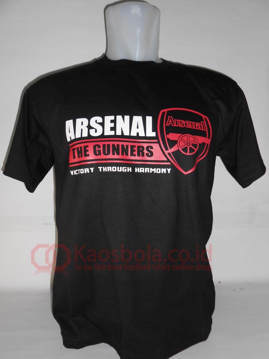 Kaos Desain Terbaru Arsenal Dengan Warna Hitam Membuatnya Distro Anak S M L Xl Tampak Elegan Font Merah