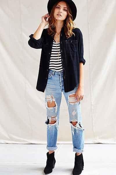 Fashion Insider And Beauty Talks Navy Blue Button Down Shirt Mens Mens Denim Shirt Button Down Mens Black Urban Style Outfits Boyfriend Jeans Urban Outfits